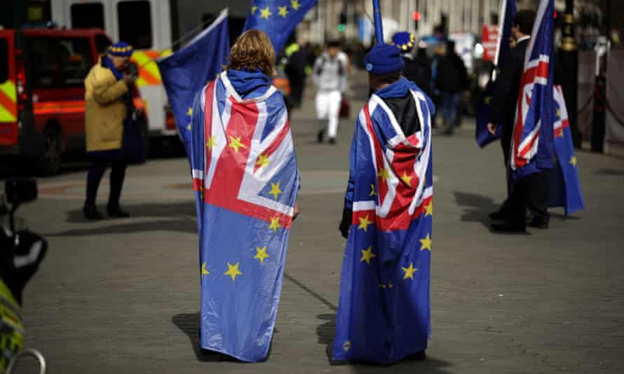 Anti-Brexit protesters in London, March 2018