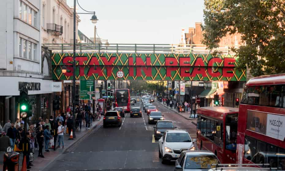 The Resolve Collective's repainted railway bridge in Brixton.