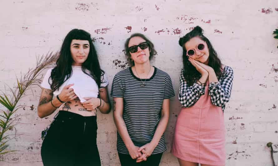 Camp Cope: (from left) singer Georgia 'Maq' McDonald, drummer Sarah Thompson and bassist Kelly-Dawn Hellmrich.
