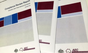 AEC documents – Compliance review reports for the Australian Electoral Commission – AEC – 24 March 2015
