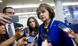 Senate intelligence committee vice chair Dianne Feinstein speaks with reporters on Capitol Hill on Tuesday.