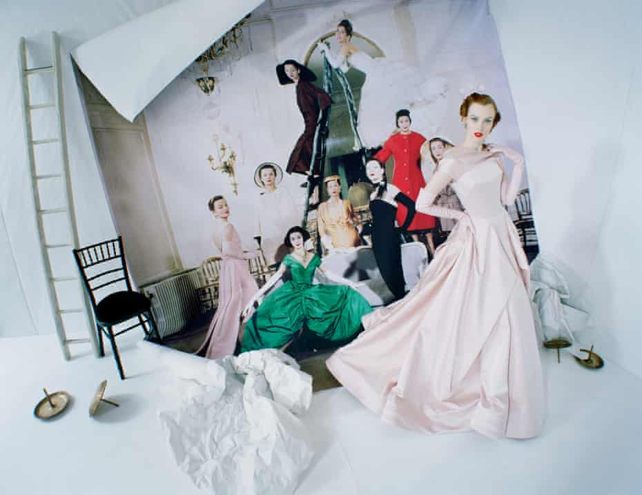 Tim Walker, Karen Elson emerging from Loomis Dean's photograph, 'Made to Order, Christian Dior'. London, 2014 © Tim Walker Studio