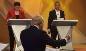 Ruth Davidson, lining up alongside Sadiq Khan, in opposition to Boris Johnson, during a BBC referendum debate at Wembley Arena in 2016.