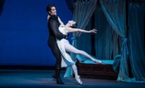 Reece Clarke as Onegin and Natalia Osipova as Tatiana in the Royal Ballet's Onegin.