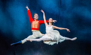 Subtlety and alertness … Francesca Hayward as Clara and Alexander Campbell as the Nutcracker Prince at the Royal Opera House, London.