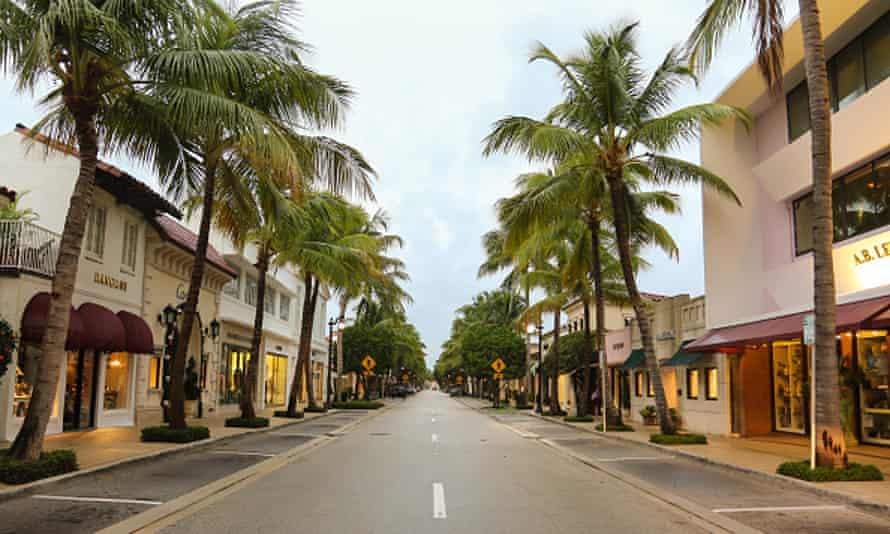 Rich man's playground ... Palm Beach. Photograph: John Parra/Getty Images