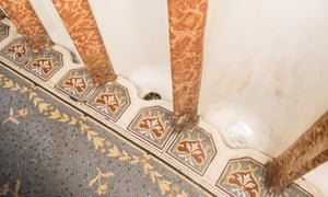 tiled urinals at the Philharmonic pub