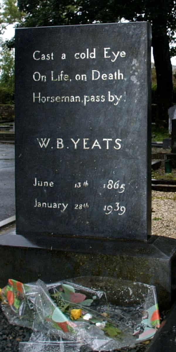 WB Yeats's grave at Drumcliff cemetery, County Sligo, Ireland.