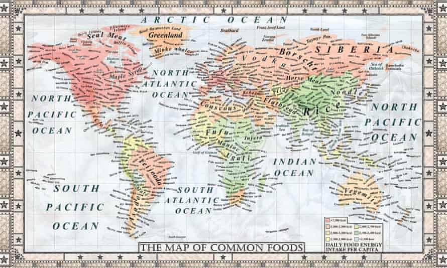 Map of Common Foods