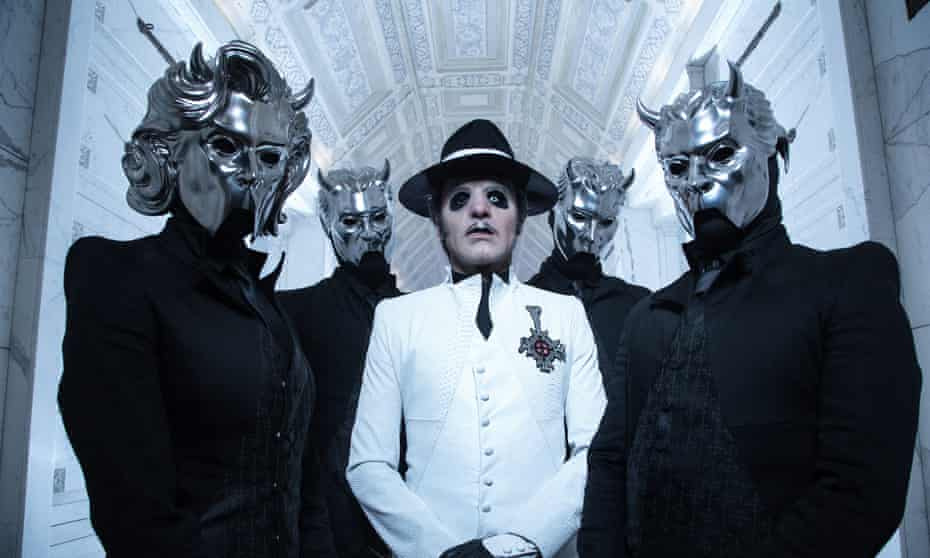 Ghost … Cardinal Copia (centre) one of Forge's reputed personae.
