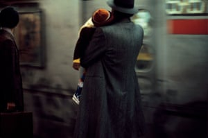 Father and child in the subway, 1984