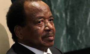 Cameroon's francophone president Paul Biya.