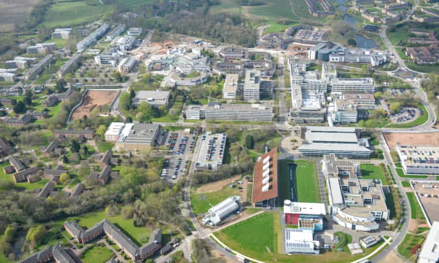 An aerial view of the Warwick University campus