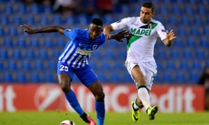 Wilfried Ndidi (left), currently playing for RC Genk, is set for a move to Leicester City.