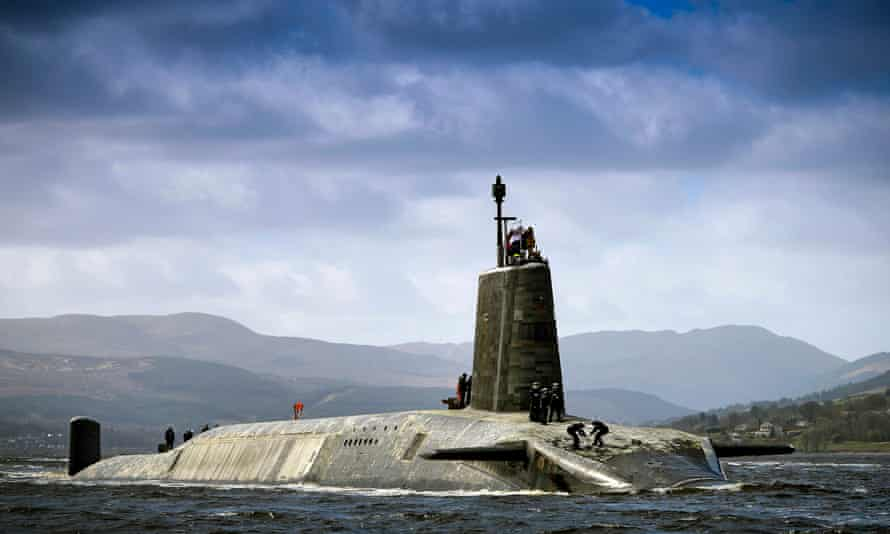 Scuppered? ... HMS Vigilant, one of the submarines Corbyn might consider deploying without nuclear missiles