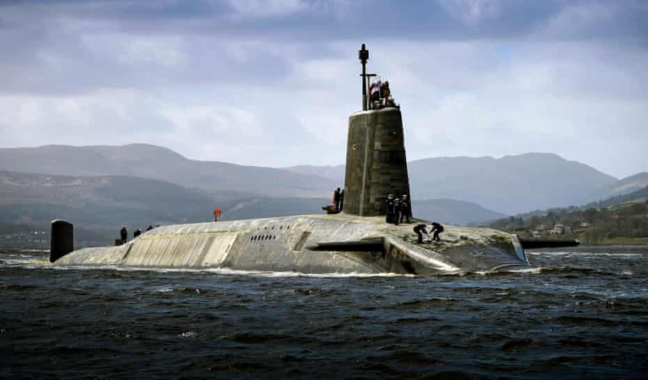 HMS Vigilant, one of the Royal Navy's four submarines that carry Trident nuclear missiles.