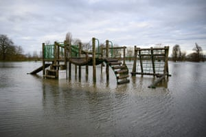 A playground is off-limits in Godmanchester