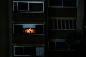 An apartment building in Caracas