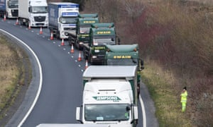Haulage trucks in Dover.