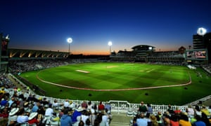 The sun sets at Trent Bridge as the Notts Outlaws were beaten by the Worcestershire Rapids.