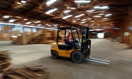 A partnership at one primary school sees pupils hanging out with forklift truck drivers.