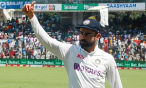 Virat Kohli of India after winning on day four,