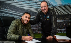Newcastle's captain Jamaal Lascelles (left) has signed a new deal for six more years but Rafael Benítez has six months remaining on his and is reluctant to commit.