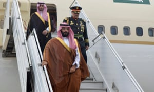 Saudi Arabia's Crown Prince Mohammed bin Salman arrives in Buenos Aires, Argentina, on Wednesday, ahead of the G20 summit.