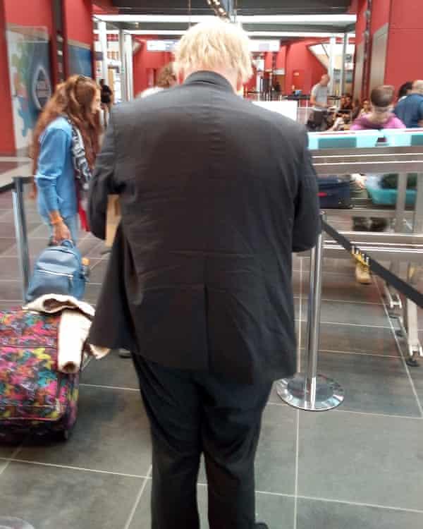 Boris Johnson at San Francesco d'Assisi airport