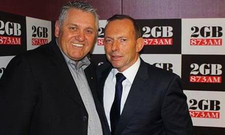 Ray Hadley, shown with Tony Abbott i