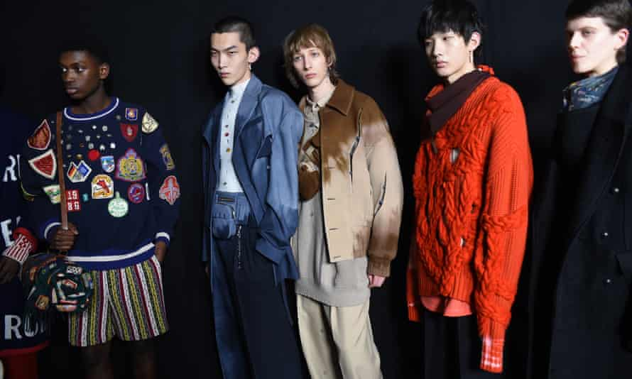 Models before the Woolmark Prize show during last year's London Fashion Week