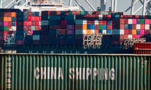 Shipping containers from China and other Asian countries at the Port of Los Angeles
