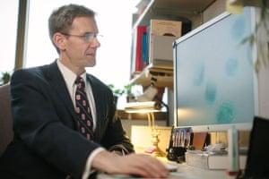 jan van deursen working at a computer