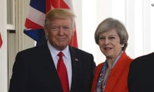 Donald Trump with Theresa May