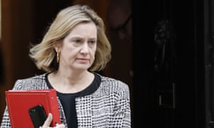 Work and pensions secretary Amber Rudd leaving No 10