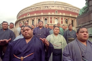 In 1991 some of the 40 top-ranked sumo wrestlers from Japan travelled to London where the Royal Albert hosted a major sumo tournament, the first to be held outside Japan