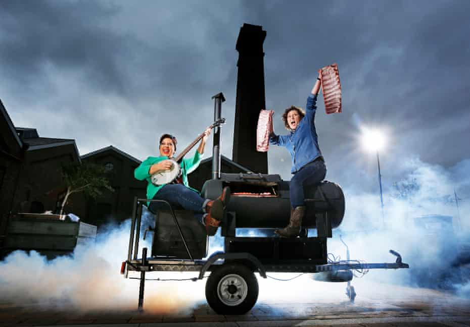 Sam Evans and Shauna Guinn of Hang Fire Southern Kitchen, Barry, winners of Best Restaurant.