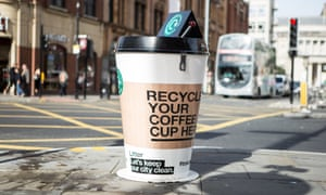 Coffee cup recycling point