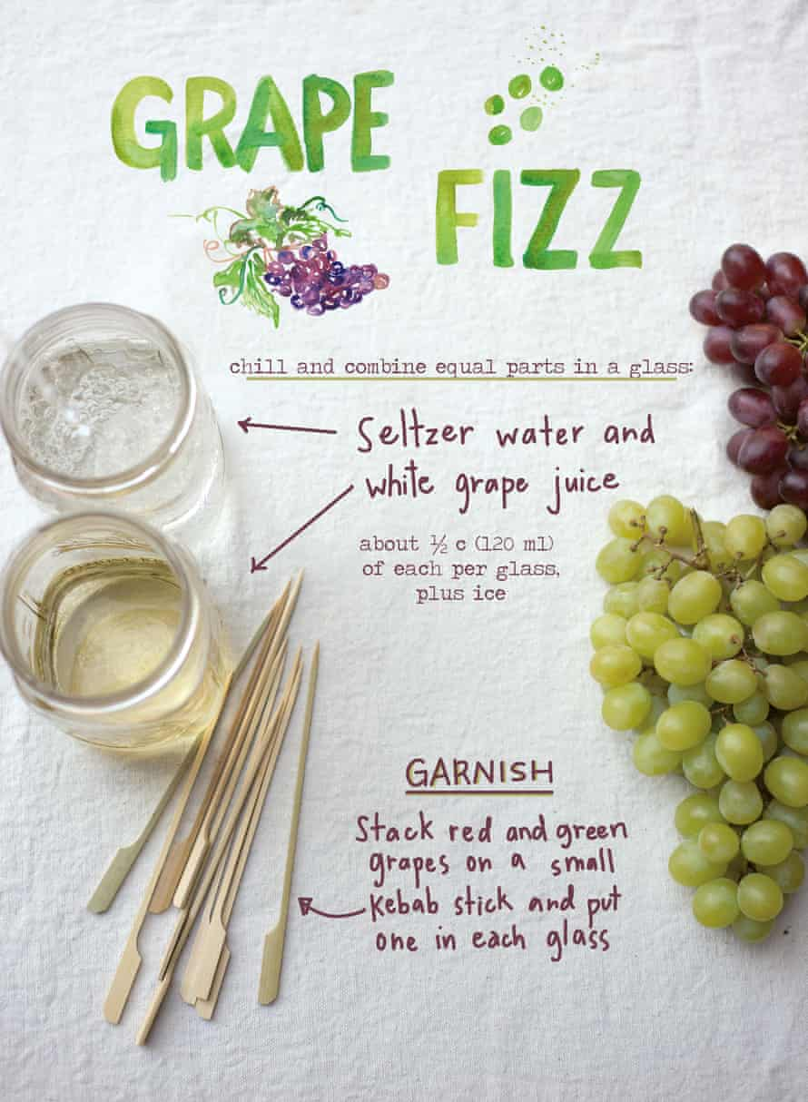 And a grape fizz to drink.