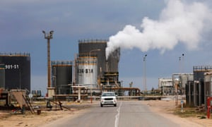 An oil refinery in Zawia