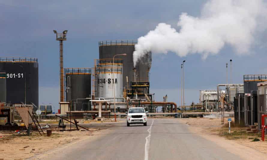 An oil refinery in Zawia, Libya