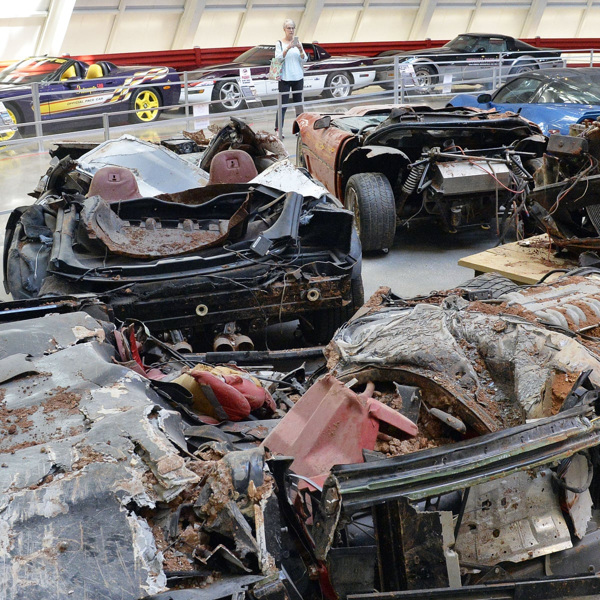 National Corvette Museum's wrecked cars drive up visits after sinkhole  filled   Kentucky   The Guardian