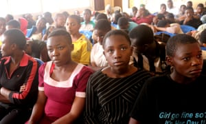 Schoolchildren in Cameroon pictured after being released from kidnapping