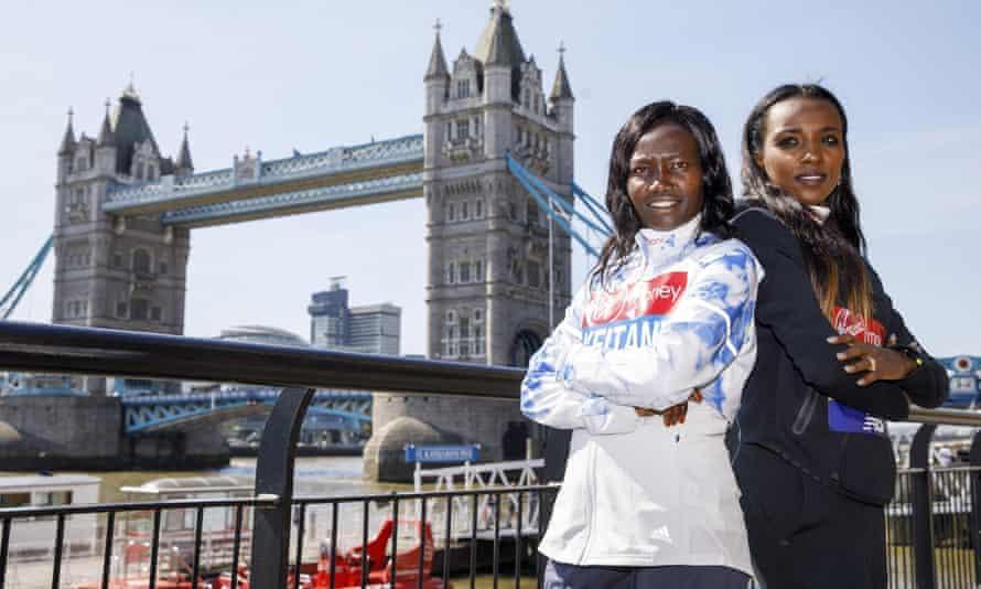 Kenya's Mary Keitany (left) and Ethiopia's Tirunesh Dibaba are favourites to win the London Marathon.