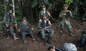 Farc guerrillas preparing to return to civilian life before the peace process was interrupted by the plebiscite. The ceasefire has been extended.