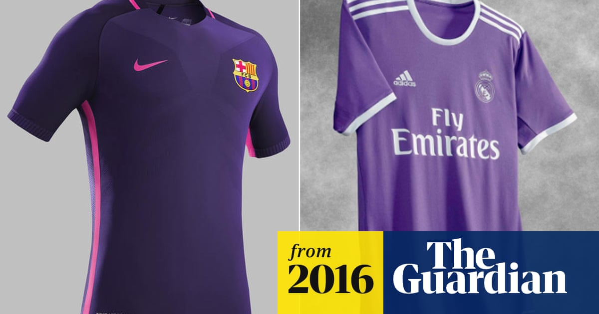 267730d7b Real Madrid and Barcelona release purple away kits on same day ...