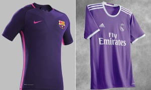 big sale b5c2a 9d062 Real Madrid and Barcelona release purple away kits on same ...
