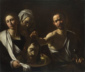 Salome Receives the Head of John the Baptist, circa 1608-1610, by Michelangelo Caravaggio.