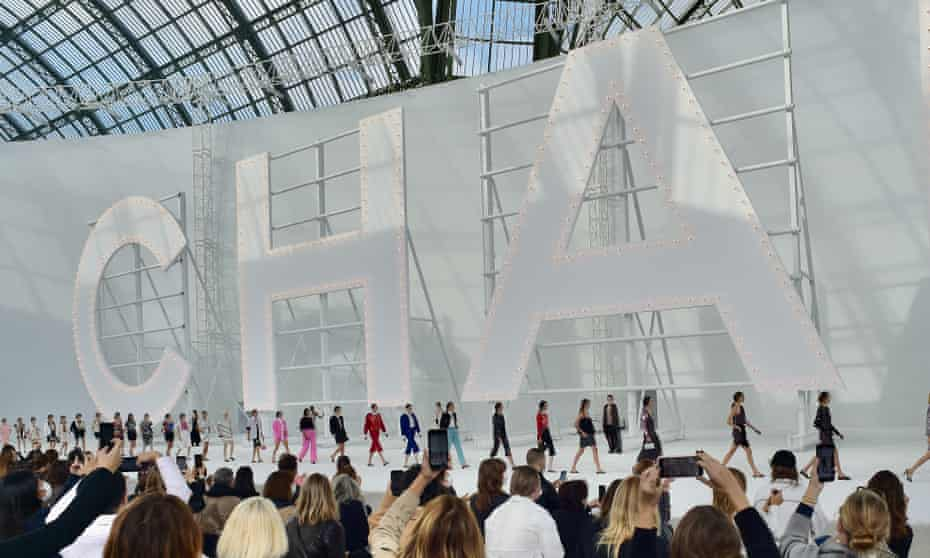 Chanel in giant letters.