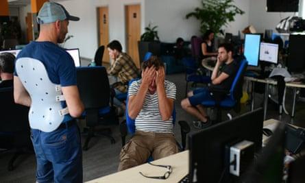 Staff at newsroom upset.